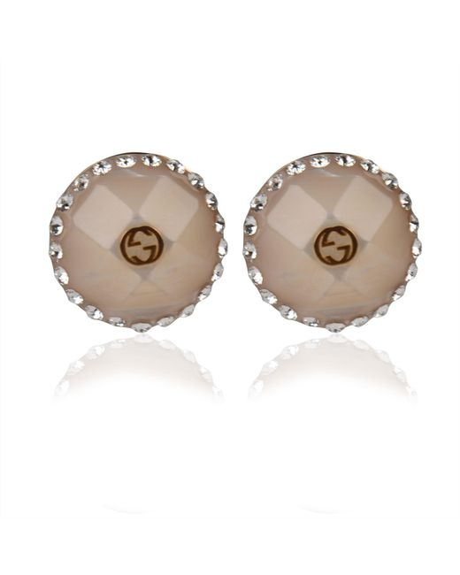 Gucci - Multicolor Crystal Studded Earrings - Lyst