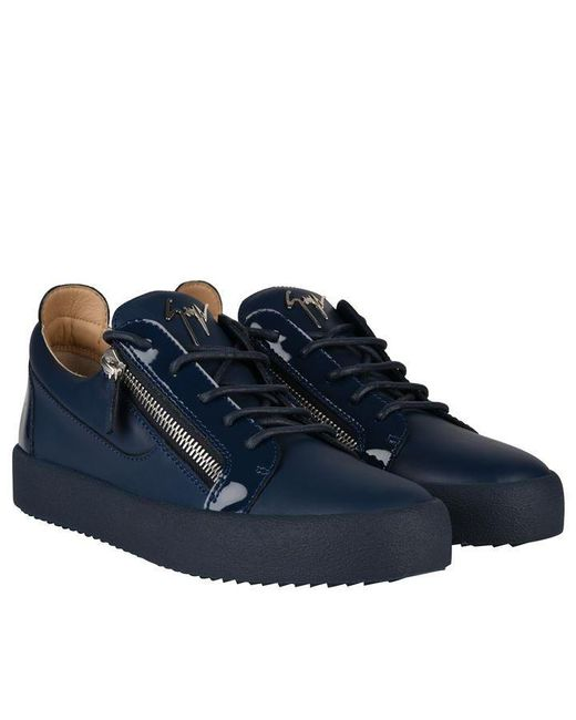 detailing fashion styles good texture Men's Blue May Patent Sneakers