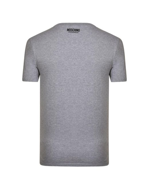 29235fbaa ... Moschino - Gray Underwear Tape Logo T Shirt for Men - Lyst ...