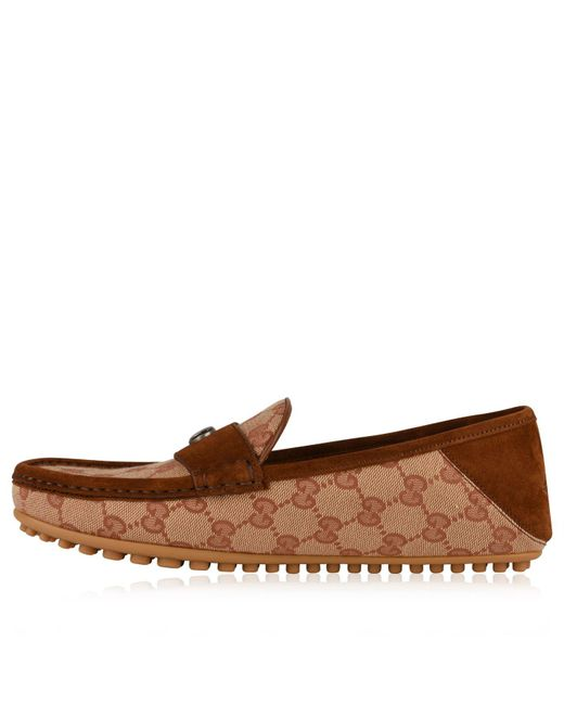 c72666a247d1 ... Gucci - Brown Kanye Driver Shoes for Men - Lyst ...