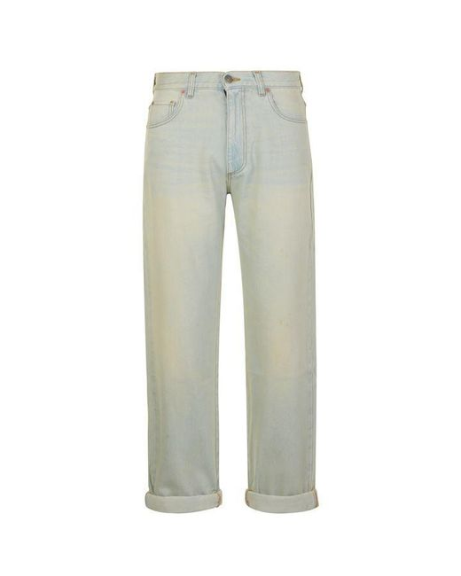 Gucci - Blue Rear Print Distressed Jeans for Men - Lyst