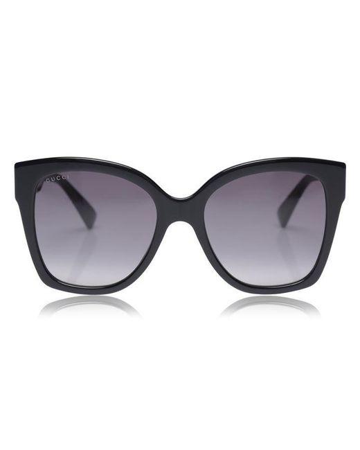 Gucci Black Round Frame Acetate Sunglasses