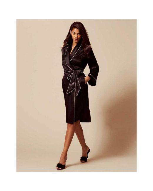 Agent Provocateur - Black Classic Dressing Gown - Lyst