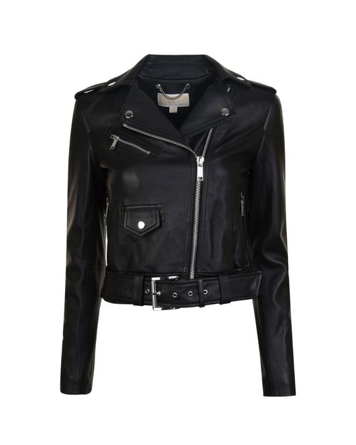MICHAEL Michael Kors - Black Classic Leather Jacket - Lyst