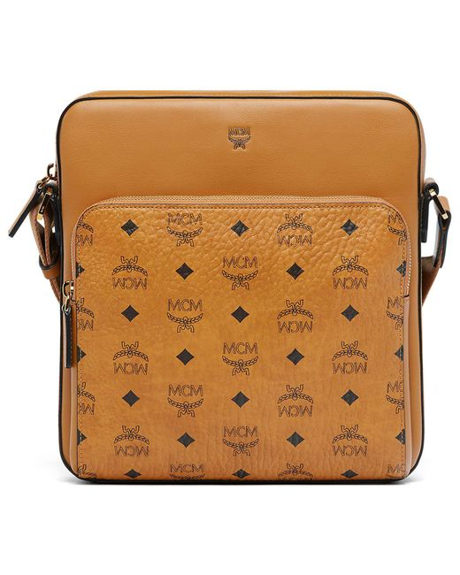 MCM - Brown Ottomar Small Messenger In Visetos - Lyst
