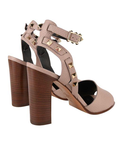 38c8e1d9dac ... Valentino - Multicolor Rockstud Block Heel Sandals - Lyst ...