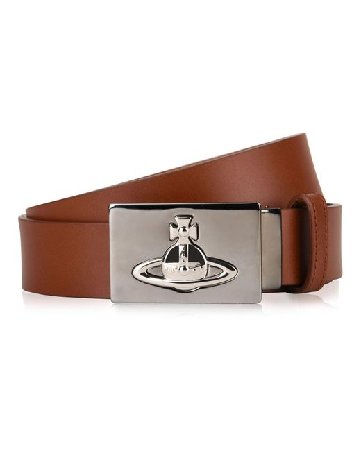 Vivienne Westwood - Brown Square Buckle Belt for Men - Lyst