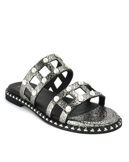 275 Central - Metallic Leather Slide - Lyst