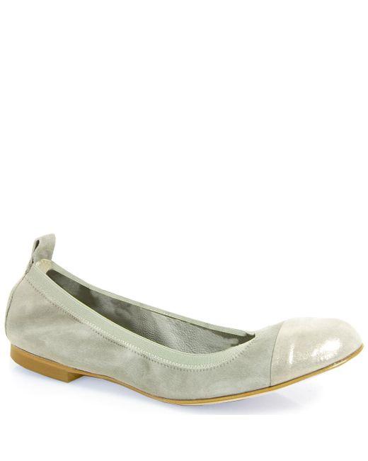 275 Central | Natural Cap Toe Ballet Flat | Lyst