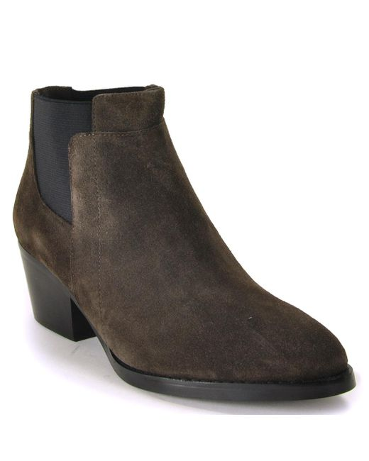 Footnotes - Gray Ankle Bootie - Lyst