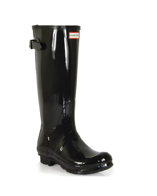 Hunter | Black Original Glossy Rainboots | Lyst