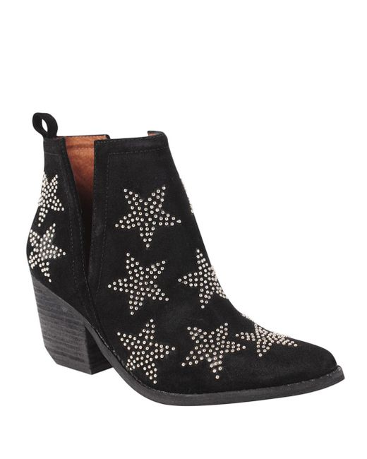 Jeffrey Campbell - Black Star Studded Bootie - Lyst