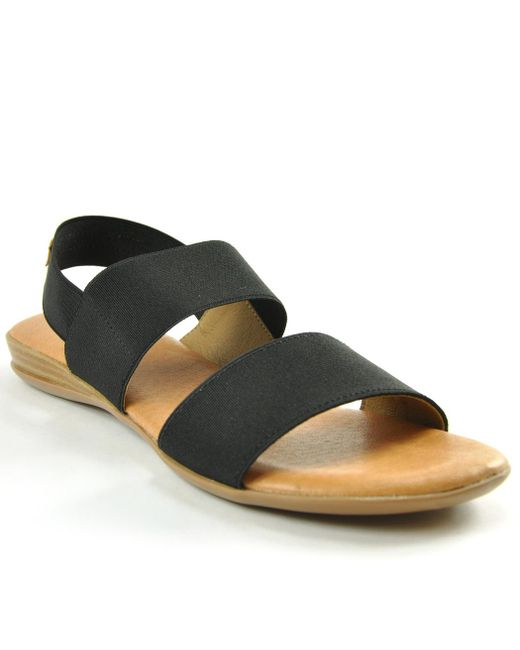 Andre Assous - Black Elastic Double Banded Flat - Lyst