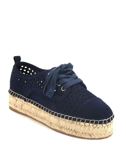 J/Slides - Blue Perforated Espadrille Sneaker - Lyst