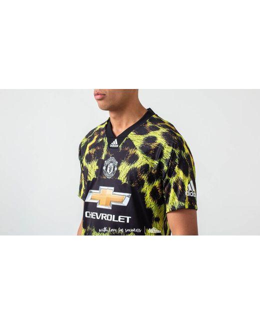 60cae95f84c ... Adidas Originals - Adidas Manchester United Fc Ea Jersey Yellow  Black  for Men - Lyst