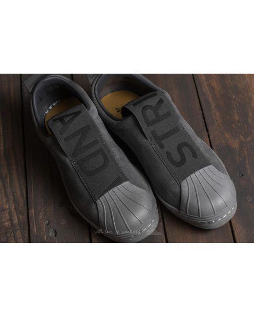 Adidas superstar di pelle grigia scarpe da ginnasticaale