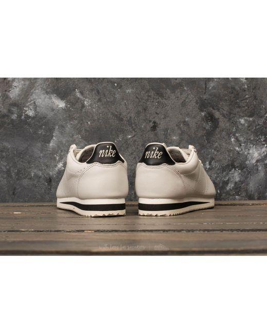 Light Light Black Nike Cortez Bone Bone Classic Leather Premium IaO7Axa