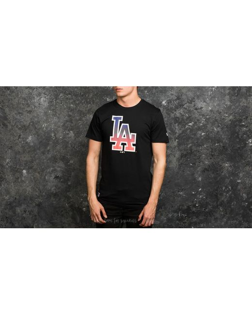 KTZ   West Coast Los Angeles Dodgers Logo Tee Black for Men   Lyst