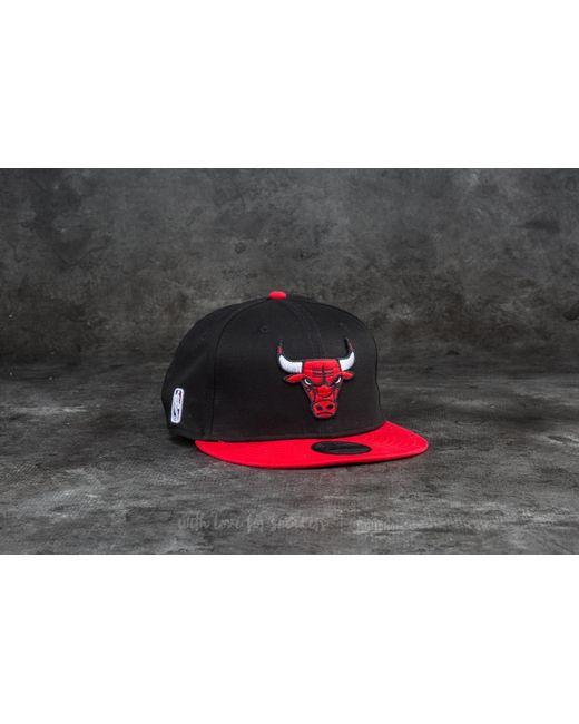 KTZ | Multicolor 9fifty Nba Team Chicago Bulls Cap Black/ Red for Men | Lyst