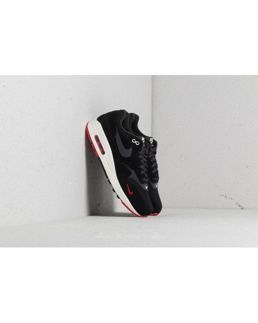 Nike - Air Max 1 Premium Black  Oil Grey-university Red for Men . 75e8afb1f