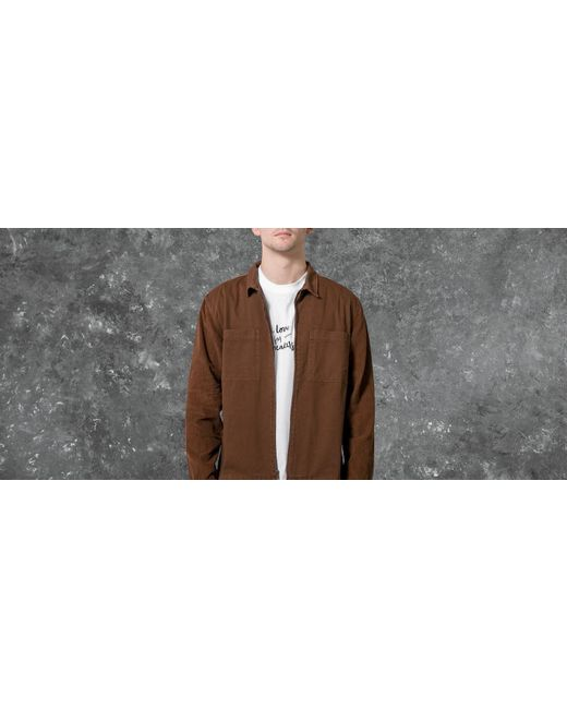 1d3320cf Stussy Yip Up Mixed Cord Shirt Brown in Brown for Men - Save 50% - Lyst