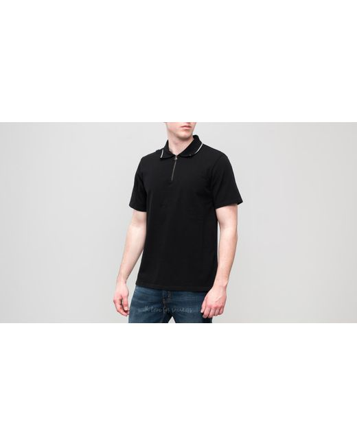 Stussy - Lion Zip Polo Black for Men - Lyst