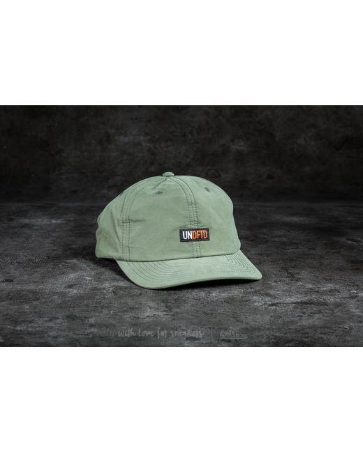 Footshop - Green Undefeated Label Cap Olive for Men - Lyst