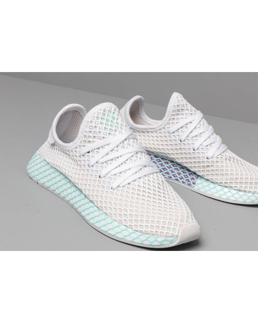 0d6f453e7 ... Adidas - Multicolor Adidas Deerupt Runner W Ftw White  Grey One  Clear  Mint -