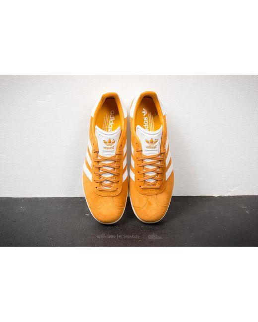 ... Adidas Originals - Adidas Gazelle Collegiate Gold/ Ftw White/ Cream White for Men ...