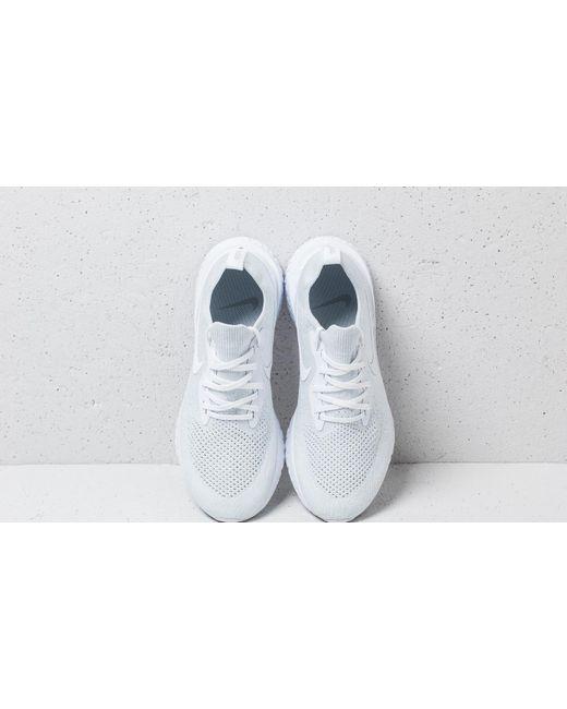 6bed910889cbd ... Nike - Epic React Flyknit True White  White-pure Platinum for Men -  Lyst ...