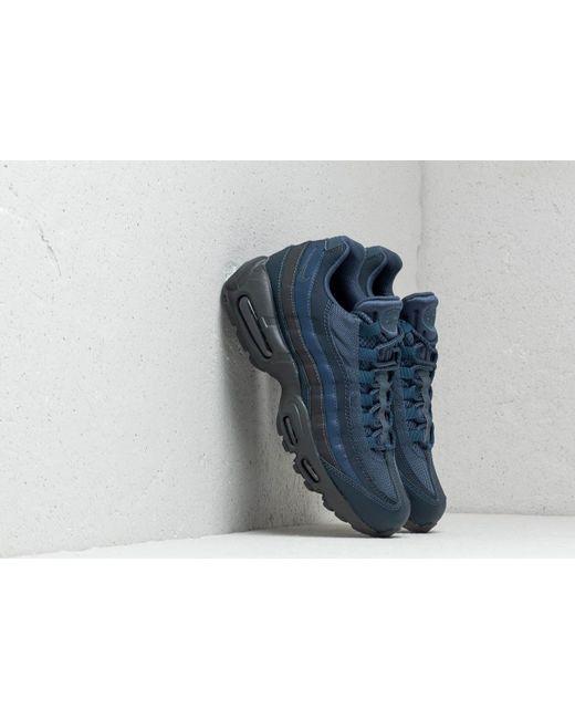 940ea39030 Nike - Air Max 95 Essential Squadron Blue/ Squadron Blue for Men - Lyst ...