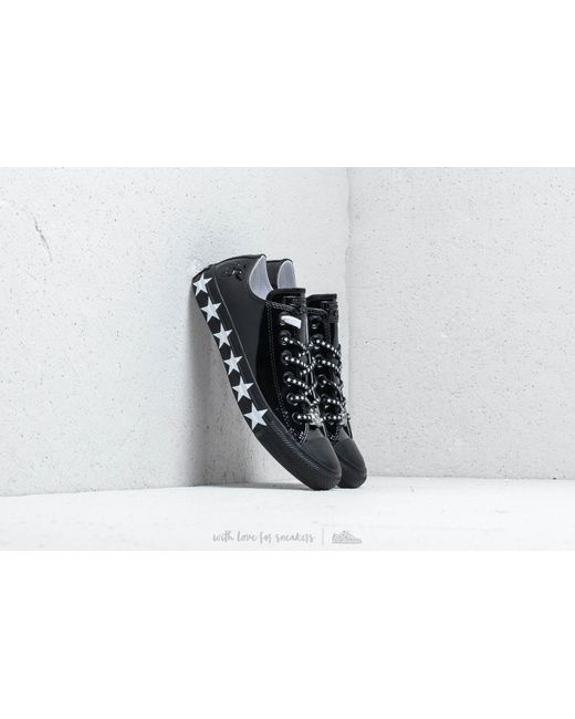 ef5d880179ee Converse - X Miley Cyrus Chuck Taylor All Star Ox Black  White  Black ...
