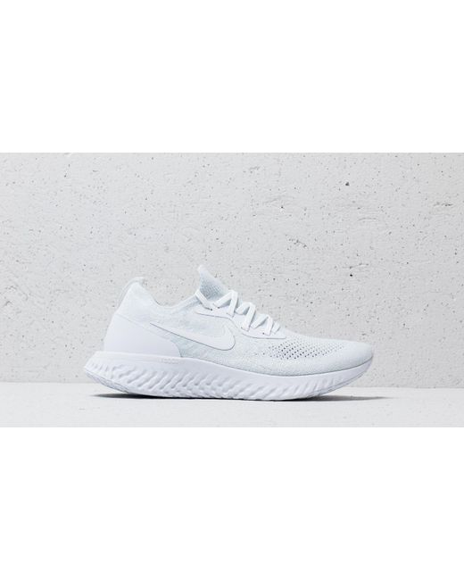 a832771b0c57 ... Nike - Epic React Flyknit True White  White-pure Platinum for Men - Lyst  ...