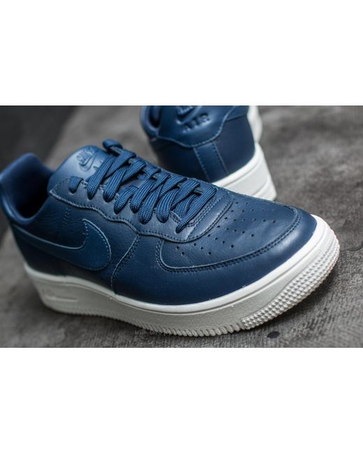 Lyst Nike Air Force 1 Ultraforce Leather Midnight Navy/ Midnight