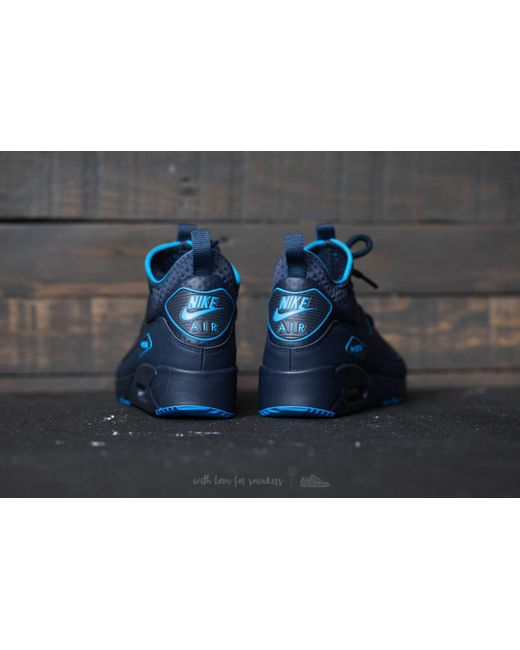 the latest a250a 8bcac ... free shipping nike air max 90 ultra mid winter se obsidian obsidian  thunder blue for fef91