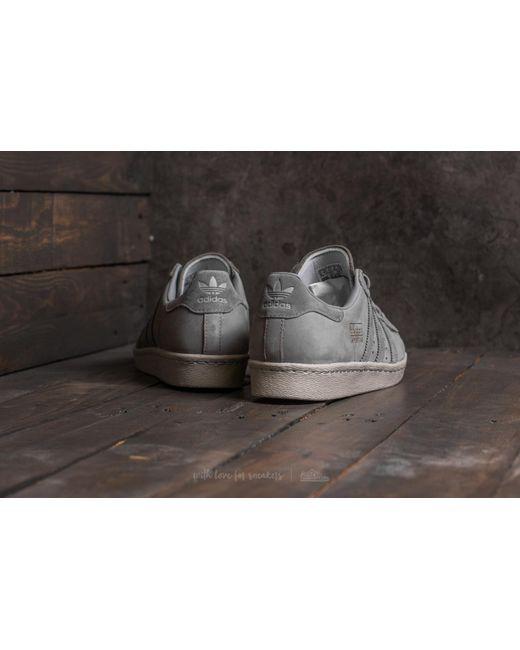 lyst originali adidas superstar degli anni '80 la metà adidas grigio / grigio - 3