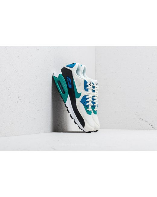 Nike - Blue Air Max 90 Wmns Sail/ Radiant Emerald-black for Men ...