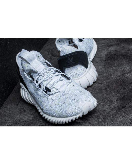 Tubular Rise Mens in Core White/Silver by Cheap Adidas, 8