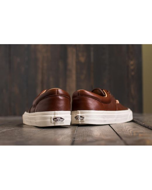 vans era lux leather