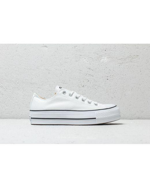 96188abb616a ... Converse - Chuck Taylor All Star Lift Ox White  Black  White - Lyst ...
