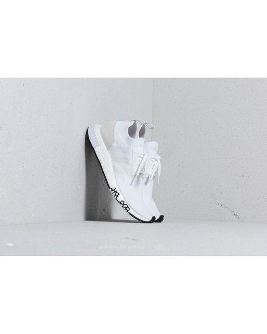 online store bc86e 8a47f Adidas Originals - Adidas Nmd racer Primeknit Ftw White  Ftw White  Ftw  White for Men ...