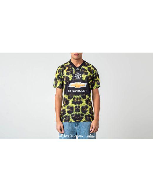 1c332968baa Adidas Originals - Adidas Manchester United Fc Ea Jersey Yellow  Black for  Men - Lyst ...