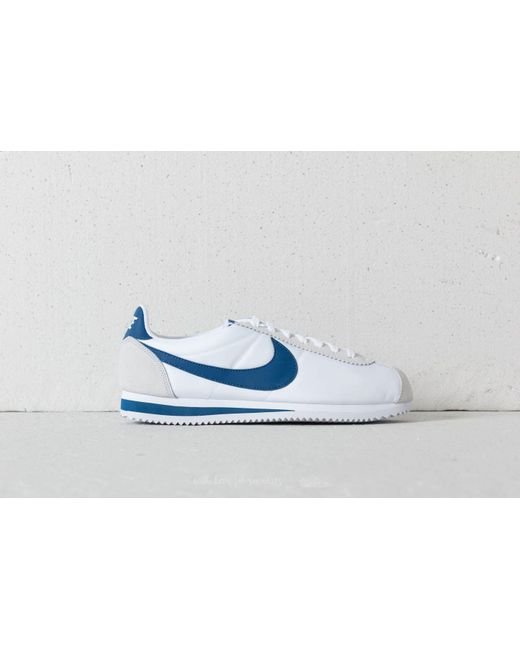 7665a565bb2d Nike - Classic Cortez Nylon White Gym Blue for  fast delivery c5325 9a911  Lyst - Nike Classic Cortez Leather Se Sail Gym ...
