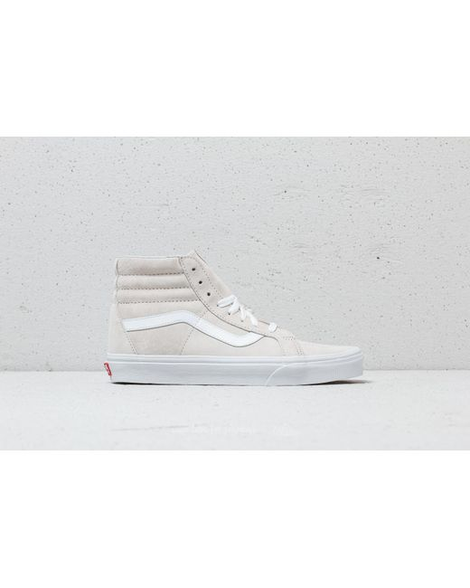 16352f15dff Lyst - Vans Sk8-hi Reissue (pig Suede) Moonbeam  True White in White ...