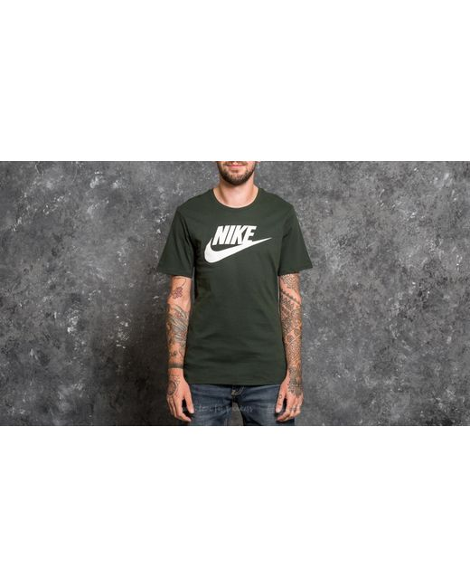 Nike | Sportswear Icon Futura Tee Dark Green for Men | Lyst