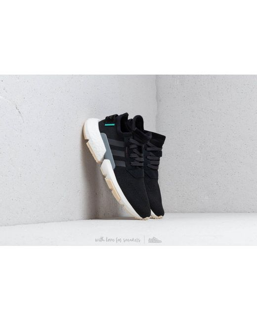 acf37d433396 Adidas Originals - Black Pod-s3.1 Suede-trimmed Stretch-knit Sneakers ...