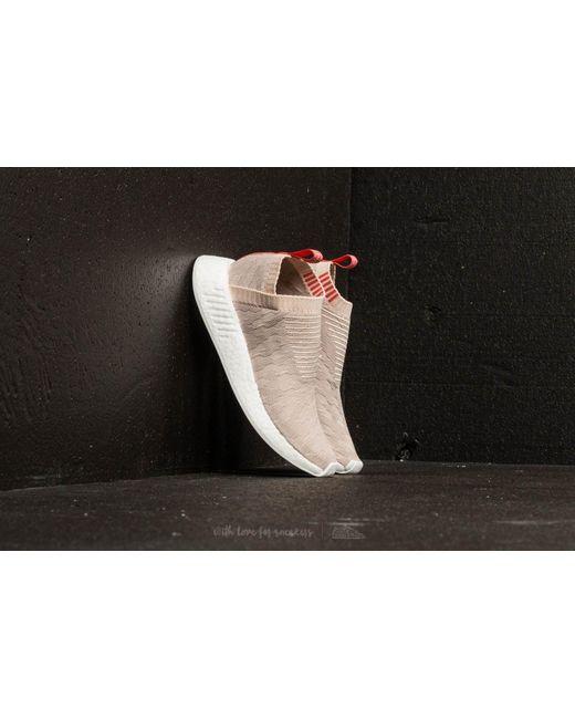Adidas Originals - Gray Adidas Nmd cs2 Primeknit W Linen  Vapor Grey  Ftw  White ... 79358d254