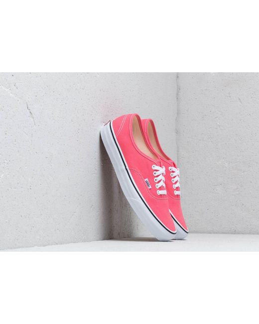 e8f19837b7 Lyst - Vans Authentic Strawberry Pink  Truewhite in Pink