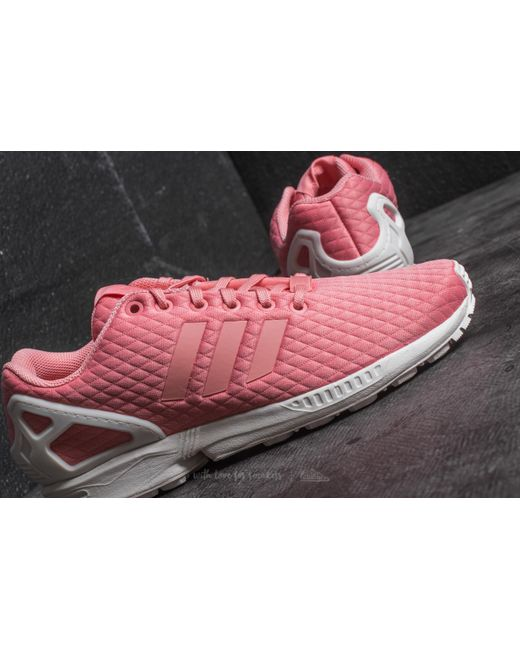 lyst adidas originals adidas zx flux w spur rosa / spur rosa / ab