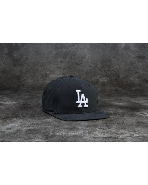 KTZ | 9fifty Lightweight Essential Los Angeles Dodgers Cap Black/ White for Men | Lyst
